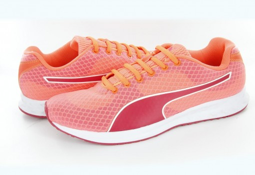 PUMA 188633 01 FLUO PEACH/ROSE-RED BURST WNS 9.5  22-27