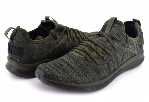 PUMA 190508 04 FOREST NIGHT-CASTOR GRAY- BLACK IGNITE FLASH EVOKNIT  25-30