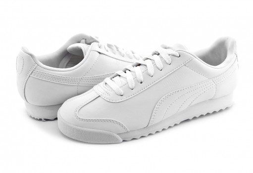 PUMA 354259 14 WHITE-LIGHT GRAY ROMA BASIC JR  22-25