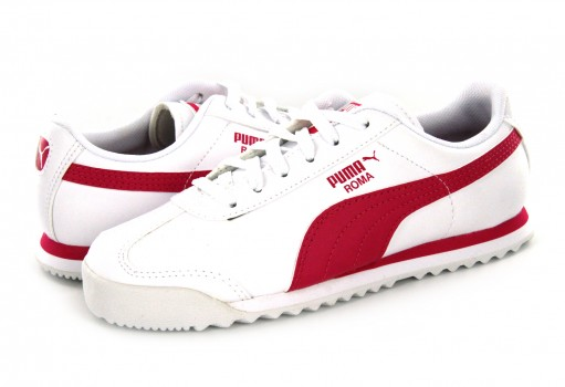 PUMA 361594 22 PUMA WHITE-FUCHSIA PURPLE ROMA BASIC PS  17-21