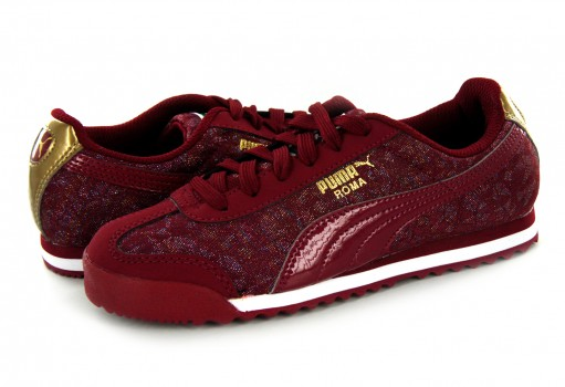 PUMA 361596 02 PURPLE/WHITE ROMA BASIC  17-21