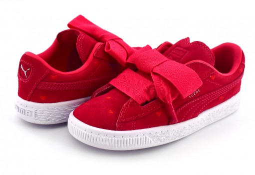 PUMA 365137 01 PARADISE PINK-PARADISE PINK SUEDE HEART VALENTINE INF  11-16