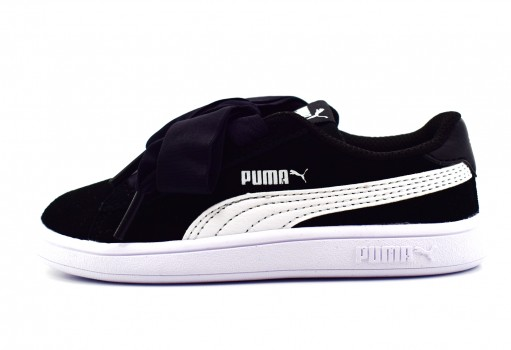 PUMA 366005 01 BLACK-WHITE SMASH V2 RIBBON AC INF  11-16