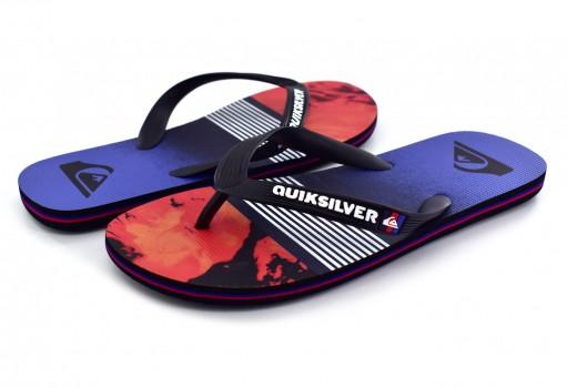 QUIKSILVER AQYL 100631 XKRB BLACK/RED/BLUE MOLOKAI LAVA DIVISION 25