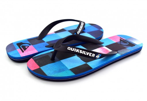 QUIKSILVER AQYL 100632 XKBR BLACK/BLUE/RED MOLOKAI RESIN CHECK 25
