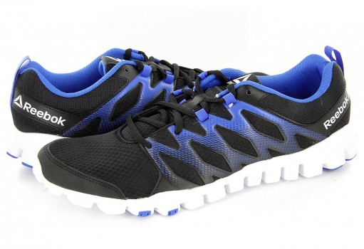 REEBOK BS8166 BLACK/VITAL BLUE/WHITE REALFLEX TRAIN 4.0  25-31