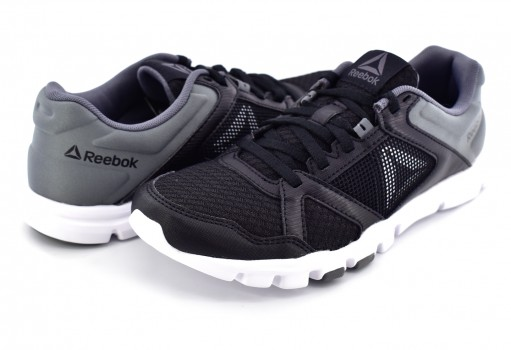 REEBOK BS9884 BLACK/WHITE/ALLOY YOURFLEX TRAINETTE 23