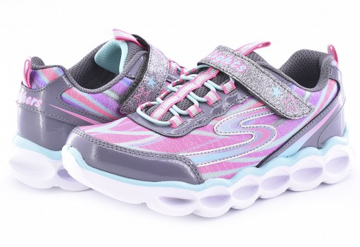 SKECHERS 10613L CCMT GRI/MULT S LIGHTS  17-22