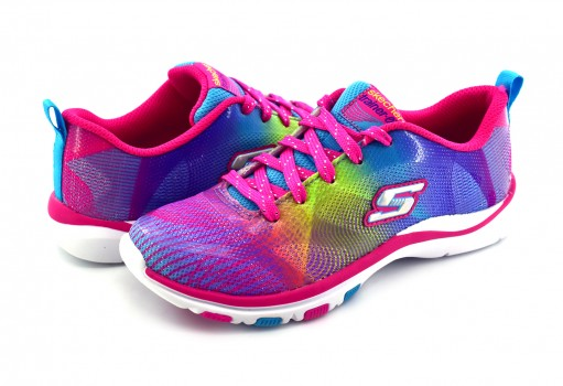SKECHERS 81487L MLT MULTICOLOR GIRLS SPORT G  17-22