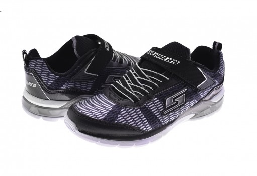 SKECHERS 90553L BKSL NEG/PLA S LIGHTS  17-22