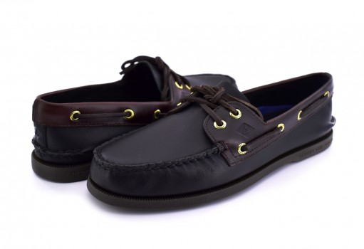 SPERRY 0 191486 0 BLACK/AMARETTO A/O 2 EYE  25-30