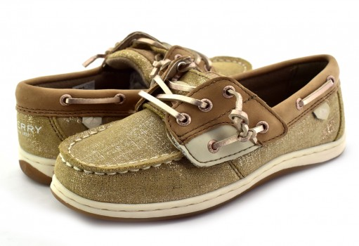 SPERRY CG 58127 LINEN/GOLD SONGFISH JR.  11-19