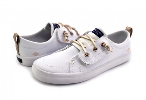 SPERRY CG 58439 CG WHITE/SILVER SP-CREST VIBE JR  11-19