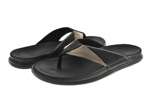 SPERRY STS 19607 BLACK/GREY RAGATTA THONG 25