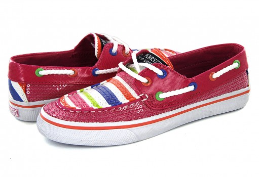 SPERRY YG 48879 PINK STRIPE BAHAMA  20-25