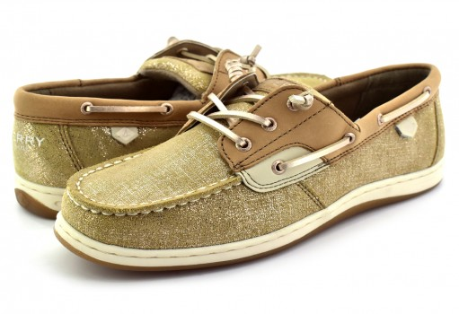 SPERRY YG 57510 YG LINEN/GOLD SONGFISH  19-25