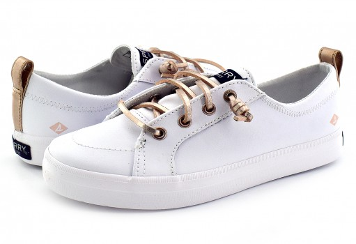 SPERRY YG 57863 YG WHITE LEATHER SP-CREST VIBE  19-25