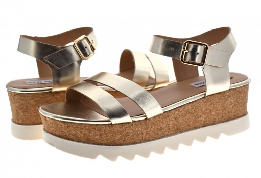 STEVE MADDEN KEYKEY LEATHER GOLD  22.0-27.0