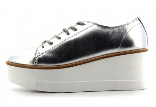 STEVE MADDEN KIMBER SILVER LEATHER  22.0-27.0