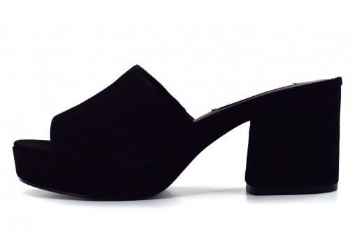 STEVE MADDEN RELAX BLACK SUEDE  22.0-27.0