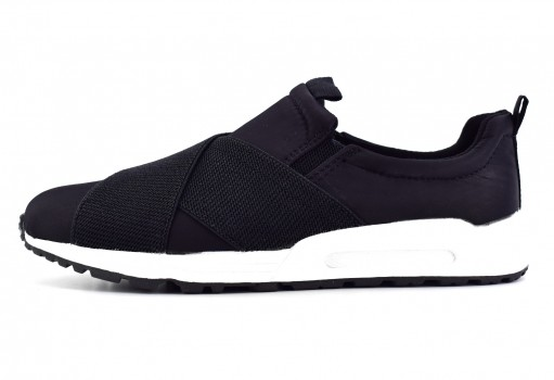 STEVE MADDEN RUN4IT BLACK NYLON  19-23