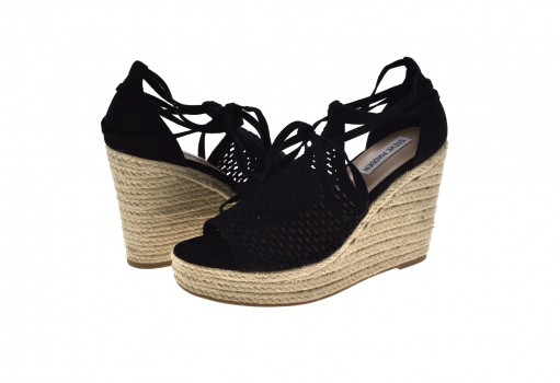 STEVE MADDEN SURE FABRIC BLACK  22.0-27.0