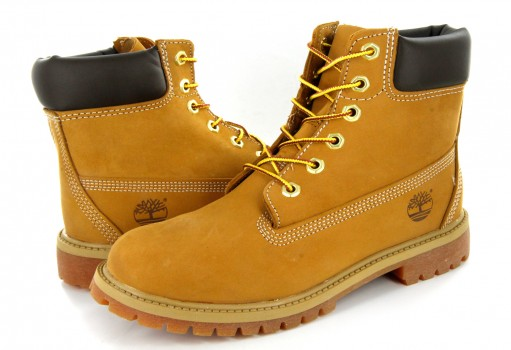 TIMBERLAND 12909 713 WHEAT NOBUCK 6IN PREM  22-26
