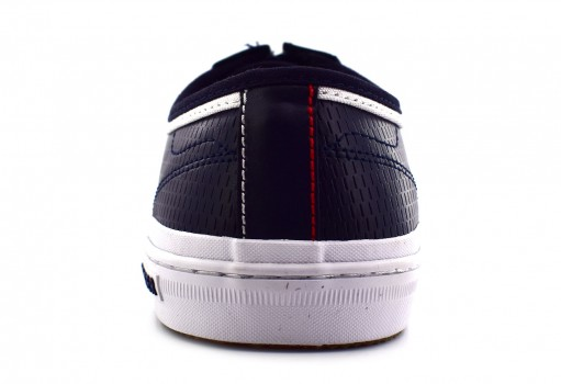 TOMMY HILFIGER FM0F M01497 403 MIDNIGHT CORE CORPORATE LEATHER SNEAKER  25-30