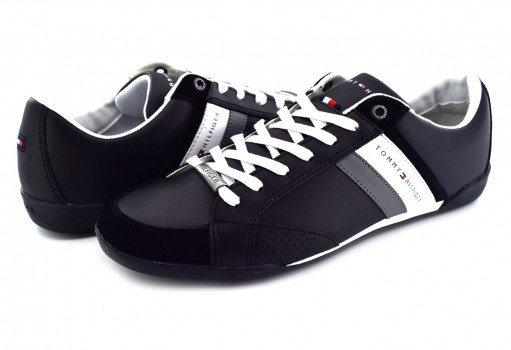 TOMMY HILFIGER FM0F M01532 990 BLACK CORPORATE MATERIAL MIX CUPSOLE  25-30
