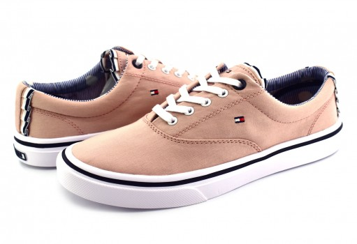 TOMMY HILFIGER FW0F W02809 502 DUSTY ROSE TEXTILE LIGHT WEIGHT SNEAKER  23-27