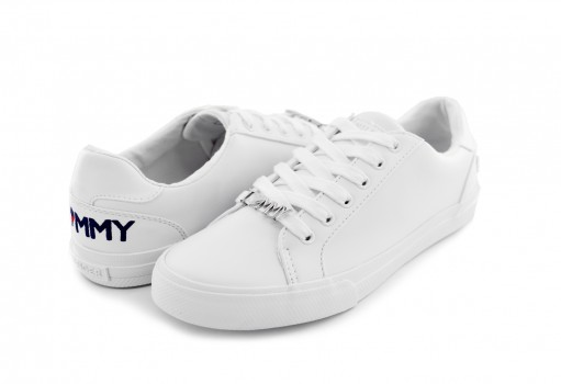 TOMMY HILFIGER TW ALUNE GS NAPPA PU WHITE  22-27
