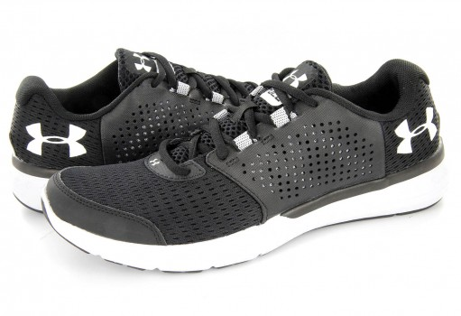 UNDER ARMOUR 1 285670 001 BLK/WHT/WHT UA MICRO G FUEL RN  25-33