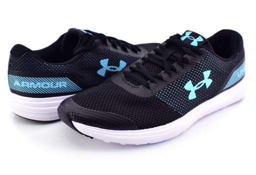 UNDER ARMOUR 3 020368 001 BLACK / WHITE / VENETIAN BLUE W SURGE  23-27