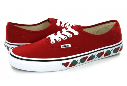 VANS 38EMMM 4 (STRAWBERRY TAPE) RED/BLACK AUTHENTIC  21.5-26.5