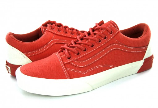 VANS 38G3MS 6 (BLOCKED) CLASSIC WHITE/DEEP SEA CORAL OLD SKOOL DX  21.5-26.5