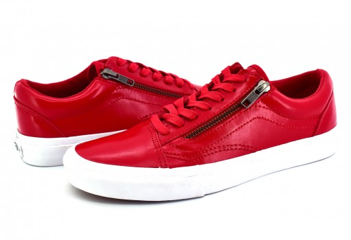 VANS 38GBMW V (SMOOTH LEATHER) RED OLD SKOOL ZIP DX  21.5-26.5