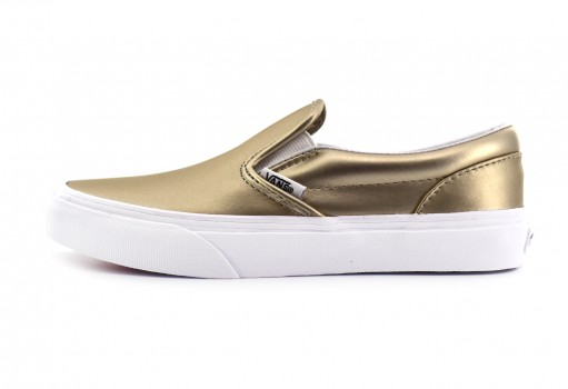 VANS 3 2QIQ8E (MUTED METALLIC) GOLD/TRUE CLASSIC SLIP ON 16