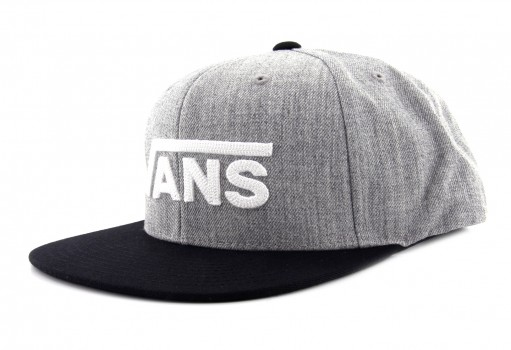 VANS 3 6ORHTG HEATHER GREY DROP V II SNAPBACK  UNICA