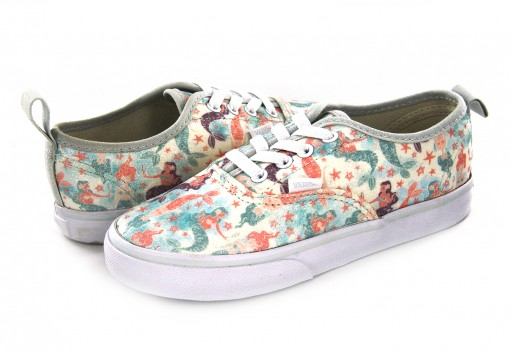 VANS 3 8E8OF3 (MERMAID) ICE FLOW/GLITTER AUTHENTIC ELASTIC 09