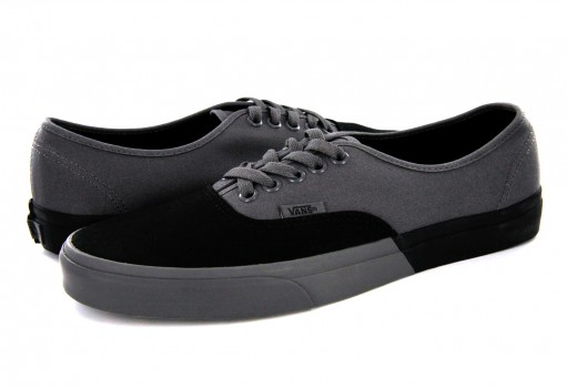 VANS 3 8EMOKV (BLOCKED) BLACK/PEWTER AUTHENTIC 21.5