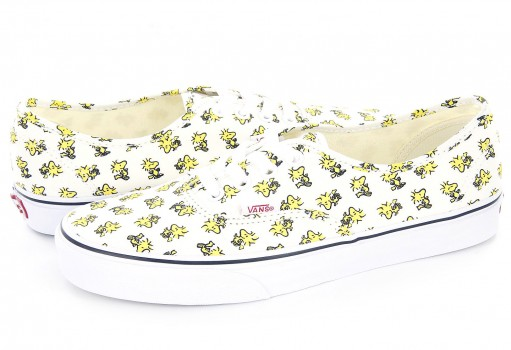 VANS 3 8EMOQZ (PEANUTS) WOODSTOCK/BONE AUTHENTIC 21.5