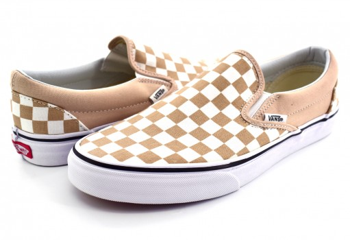 VANS 3 8F7QCO (CHECKERBOARD) FRAPPE/TRUE CLASSIC SLIP ON 22