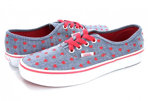 VANS 3 8H3MLA 3 (CHAMBRAY HEARTS) AUTHENTIC  16-24