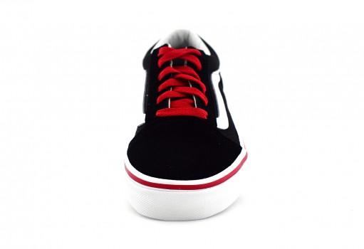 VANS 3 8HBORC BLACK/RED OLD SKOOL  16-24