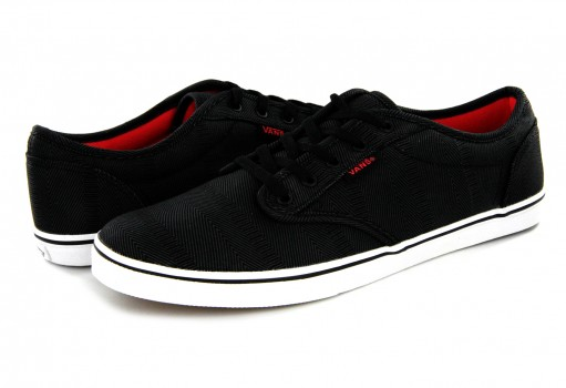 VANS 3 8HMMZY (MEANSWEAR) BLACK/PINK ATWOOD LOW 21.5