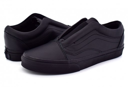 VANS 3 DPCL3A (LEATHER) BLACK OLD SKOOL LACELES 21.5