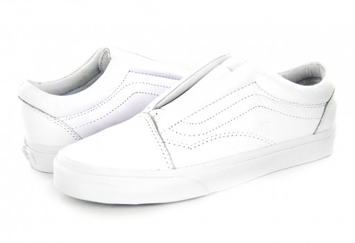 VANS 3 DPCL3H (LEATHER) TRUE WHITE OLD SKOOL LACELES 21.5
