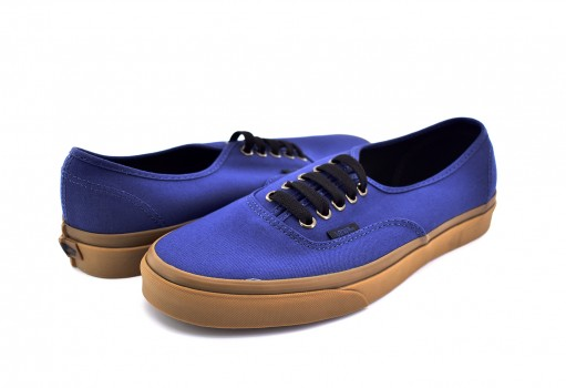 VANS 8EMU4C (GUM OUTSOLE) DARK DENIM/BLACK AUTHENTIC  21.5-31