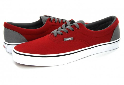 VANS 8FROHT (POP)RACING RED/FROSTGRAY ERA  21.5-31