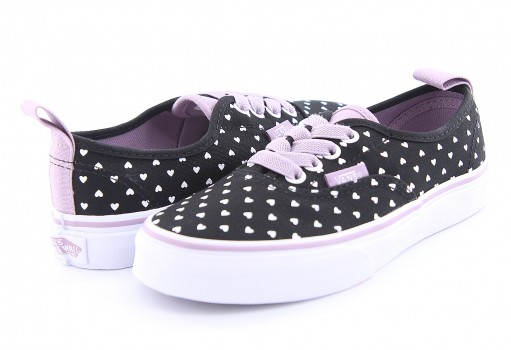 VANS 8H4OFJ (MICRO HEART) BLK/SEA FOG AUTHENTIC ELASTIC  16-24